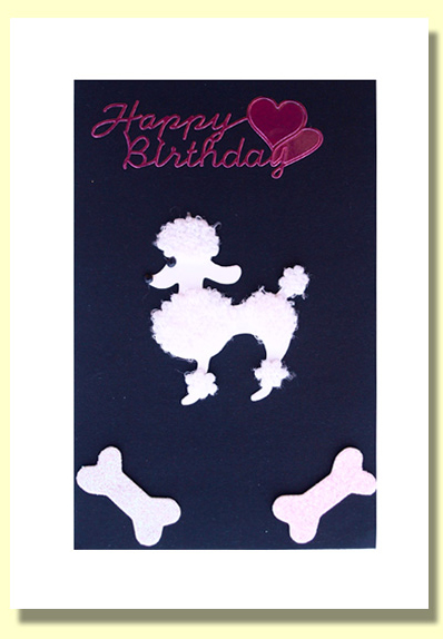 Hand made greeting cards birthday cards anniversary cards wedding poodle greeting card bookmarktalkfo Gallery