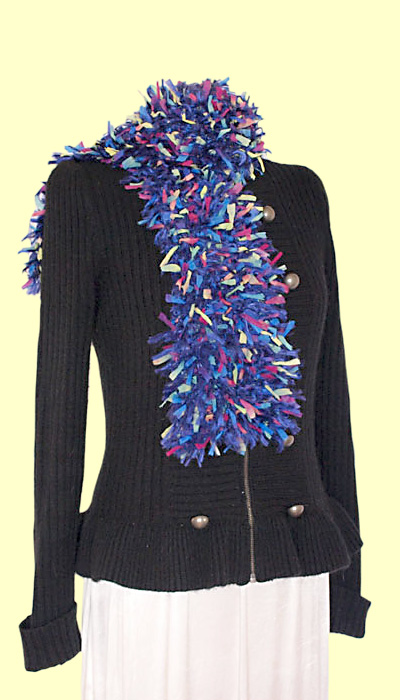 Blue Multi Ribbon Scarf