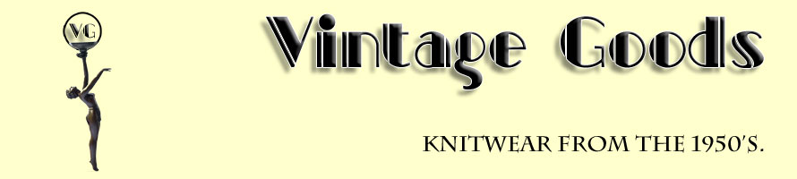 Knitwear designs from 1950